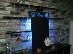 Chalk board wine glass bar