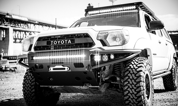 2012 to 2015 Tacoma front Hybrid bumper